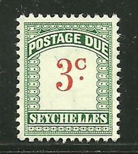 Album Treasures Seychelles Scott # J2  3c  Postage Due  Mint Never Hinged