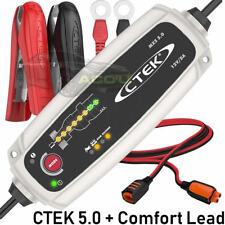 CTEK MXS 5.0 12v Car Caravan Boat Smart Battery Charger + Connect Extension Lead