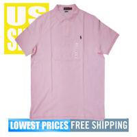 Polo Ralph Lauren Men's NWT 100% Cotton Classic Fit Bath PINK Polo Shirt XL