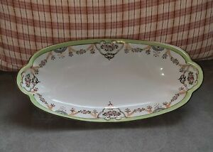 Beautiful Hand Painted Nippon Oblong Serving Celery Dish Antique