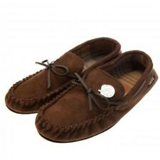 Derby County Football Club Mens Brown Moccasin Slippers Size 11/12 Free UK PP