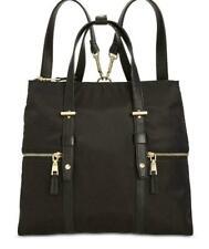 INC International Concepts Hali Nylon Convertible Backpack Black