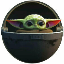 2 New Limited Baby Yoda in Pod decal sticker Laptop ps case skateboard stickers