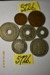 7 x 1927  COINS 2 x(50&100mils) silver Mar5726    PALESTINE  26 gms