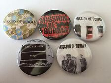 5 Mission of Burma button badges The Replacements Obliterati Sound Speed Light