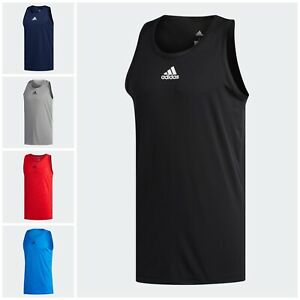 NWT Men's Adidas Heathered Tank Top Size S - XL MSRP $25
