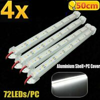 4X 12V Waterproof 5630 Led Strip Lights Bar Cool White Lamp Camping Caravan Boat