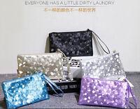 New Women Glitter Sequins Handbag Party Evening Envelope Clutch Bag Wallet Purse