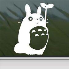 "Totoro White Sticker Decal Studio Ghibli White Car Window decal Sticker 6"""