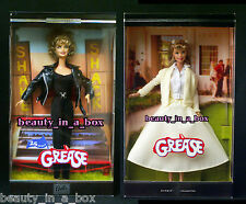 GREASE Barbie Doll Sandy Black Yellow 25th Anniversary Olivia Newton John EXC