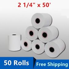 "50 Rolls Case 2 1/4"" x 50' Thermal Credit Card & Cash Register POS Receipt Paper"
