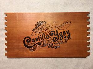 1 Rare Wine Wood Panel Castillo Ygay Rioja Vintage CRATE BOX SIDE 7/21 148