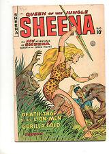 Sheena, Queen of the Jungle #10 1950 Fine+ 6.5 NICE! 1 Matt Baker Cover! 2 3