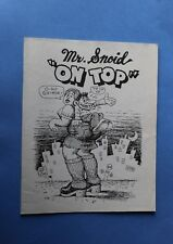 Rare Mr Snoid On Top ROBERT CRUMB Recueil de dessin 2001
