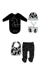 Disney Mickey Mouse Baby Boys Newborn Bodysuit Leggings Hat Gloves & Bib Set