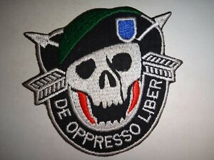US Army 19th Special Forces Group DE-OPPRESSO LIBER Patch