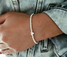 Silber Herz Armband ♥ Infinity filigranes Perlenarmband Blogger Geschenk Damen