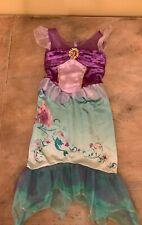 New ListingDisney Ariel Little Mermaid Girls Dress Up Costume Sz 4 - 6X Teal Purple