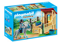 BNIB PLAYMOBIL 6935 COUNTRY Horse Stable with Appaloosa set