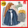 Women's Button Up Shirt Top Blouse Oversize Corduroy Long Sleeve Loose Jacket