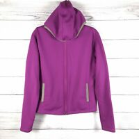 Pearl Izumi Women's Purple Cycling Hooded Thermal Full Zip Jacket Size Medium