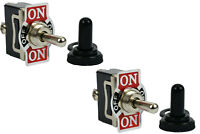 2 pc 20A 125V Toggle Switch  ON-OFF-(ON) SPDT 3 Terminal Momentary 1 SIDE+Boot