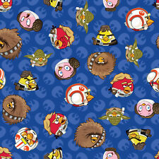 Patchwork Fabric Childrens Angry Birds Star Wars Fabric Rebel Leaders Blue - ...