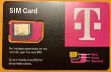 T-Mobile Sim Card Micro/Nano/Standard Gsm Card 3-in-1