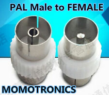 PAL male Plug to PAL Female Plug  Connector/Joiner  ADAPTER for TV ANTENNA