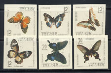 Vietnam Butterflies on Stamps set mnh vf imperf Sc. 398-403 pristine 65.00