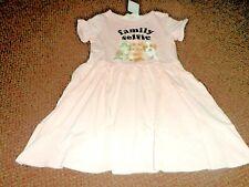 H&M Girls pale pink puppy / kitten / bunny Dress 4 - 5 - 6 years - bnwt