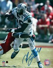 DeShaun Foster Signed Autographed 8X10 Photo Panthers Breaking Tackle w/COA