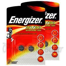 4 x Energizer 357/303 batteries Sillver oxide SR44 SR1154SW SR1154W EXP76 1.55V