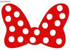 "Minnie Mouse Bow 6"" Red Car Truck Vinyl Decal Art Wall Sticker USA Disney Fun Ad"