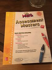 McGraw Hill My Math Assessment Masters Grade K Common Core CCSD