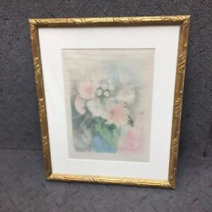 MARIE LAURENCIN ''SPRING COLORFUL FLOWERS''[1928]STONE LITHOGRAPH