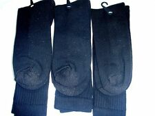 5 Pairs Men US Army Military Issue Anti-Fungal USA Made Boot Socks BLACK 10-13