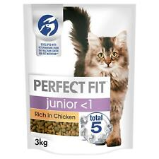 More details for 3kg perfect fit 2-12 months kitten complete dry cat food chicken (4 x 750g)