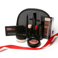 Faced Eye Shadow Palette Make Up Cosmetics Blush Lip Gloss Set with Bag dh