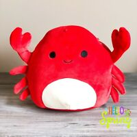 """Kellytoy Squishmallow 8"""" Red Crab NEW HARD TO FIND LT ED Plush Toy Spring 2020"""
