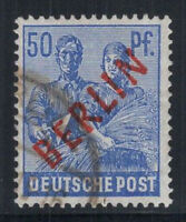 Berlin 1949 Mi. 30 Gestempelt 100% Aufdruck 50 pf