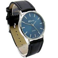 Ravel Mens Classic Quartz Watch Black Strap Blue Face R0129.06.1