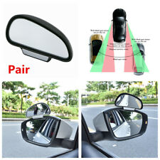 Pair Wide Angle Side Rear Mirrors Blind Spot Snap Way Rear View Mirrors For Car