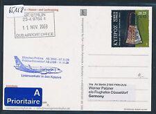 65158) Air Berlin FF Pristina Kosovo Düsseldorf 11.11.2009, card Zypern Cyprus