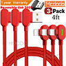 Mcdodo 3 PACK LED 90° Elbow Game Lightning Charger Cable Cord For iPhone XS XR 8