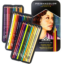 NEW 36x Prismacolor Premier Colour Coloured Pencils Tin Soft Core Professional A