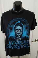 Avenged Sevenfold Praying Skeleton Black Slim Fit Adult T Shirt 2XL Rare