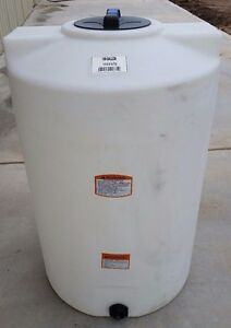 100 gallon poly water storage tank tanks vert Norwesco