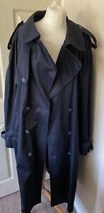 Mac Overcoat Navy Cosy Tartan Removable Lining XL