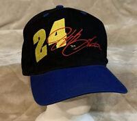 VTG Jeff Gordon #24 Signature Adult OSFA Black Snapback Hat Cap NASCAR Hendrick
